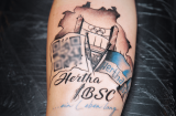 A Hertha BSC tattoo