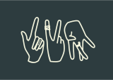 Finger signs depicting