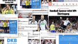 Various news articles about the Handball World Cup of the DKB
