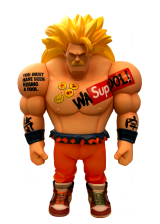 A toy figure of a wrestler