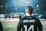 Jung von Matt/SPORTS Soccer player with a Jung von Matt jersey